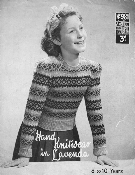 Knitted Throws Free Patterns : Vintage Babies and Childrens Fair Isle knitting patterns available from The V...