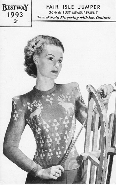 Christmas knitting patterns from The Vintage Knitting Lady