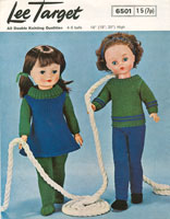 vintatge knitting patterns for dolls