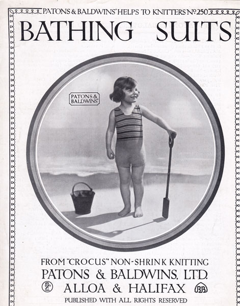 682783b37e8bd vintage girls swim suit bathing costume 1920s vintage knitting patterns