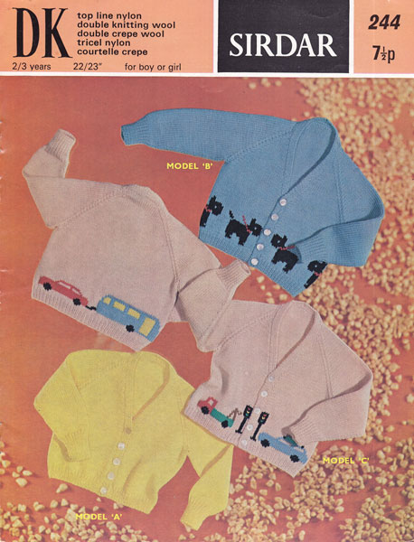 Knitting Pattern With Animals Motifs On : Vintage Babies and Childrens Fair Isle knitting patterns available from The V...