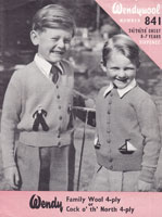 vintage boys cardigan knitting pattern sailor and yacht design 1950s