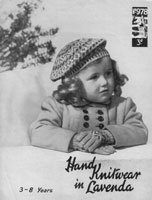 vintage fair isle beret for small child 1940s knitting pattern
