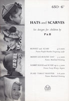 vintage girls beret and hat fair isle knitting pattern 1950s