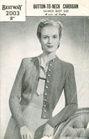 vintage ladies 1940 knitting pattern