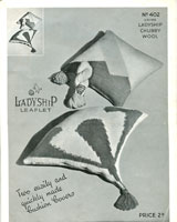 vintage cushion cover knitting patterns