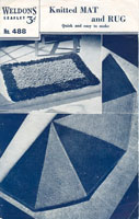 vintage knnitting pattern for rugs