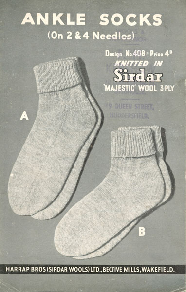 Knitting Vintage Socks : Hand knitted socks and slippers knitting patterns