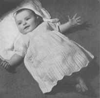 baby dress knitting pattern 1940s