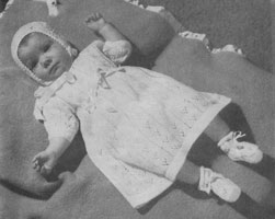 vintage dress set knitting pattern for 1940s baby