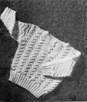vintage baby jumper knitting pattern from 1940s