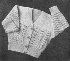 baby cardican knitting pattern 1940s