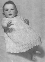 vintage baby knitting pattern for layette from 1940s