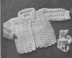 vintage baby matinee set to match layette 1940s