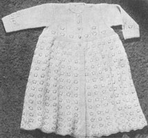 vintage baby layette carry coat from 1940s knitting pattern