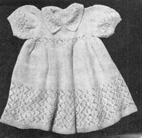 baby dress knitting pattern from 1940s