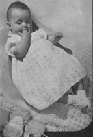 vintage baby layette from 1940s knitting pattern