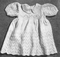 dress from vintage baby knitting pattern from 1940s
