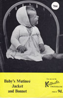 vintage knitmaster machine kniting pattern for baby matinee set 1950s