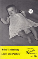 vintage baby dress and panties machine knitting pattern knitmaster twinmatic 1960s