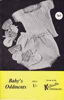 knitmaster vintage knitting machine knitting pattern babies underwear 1960s
