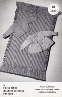 vintage baby knitting pattern 1950s machine knitting