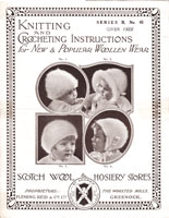 vintage baby hats in angora greenock scotchwool 65 1930s knitting pattern