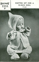 vintage baby doll knitting pattern 1940