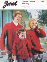 vintage aran knitting pattern for men lady child