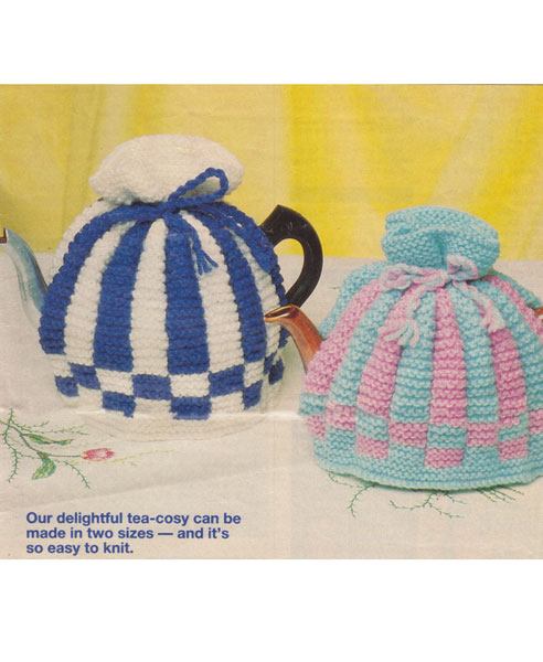 Traditional Tea Cosy Knitting Pattern : Vintage Tea Cosies and Egg Cosies Knitting Patterns from The Vintage Knitting...
