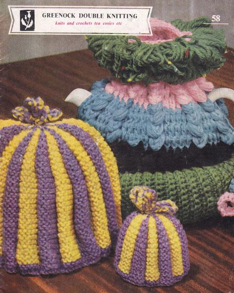 Vintage Tea Cosy Knitting Patterns : Vintage Tea Cosies and Egg Cosies Knitting Patterns from The Vintage Knitting...