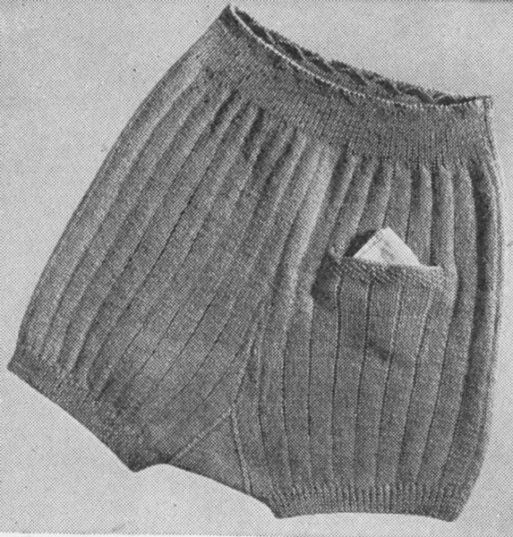 Knitting Pattern For Underwear : Childrens Knitted Underwear patterns available from The Vintage Knitting Lady