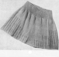 vintage knitting pattern for french knickers 1940s