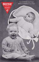 vintage baby knitting pattern matinee jacket cardigan 1940s bestway a2437