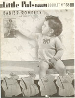 vintage knitting pattern for baby romper