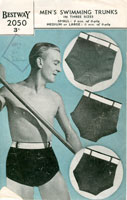 vintage mens swim suit knitting patterns
