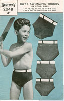 vintage boys swim trunks knitting patterns