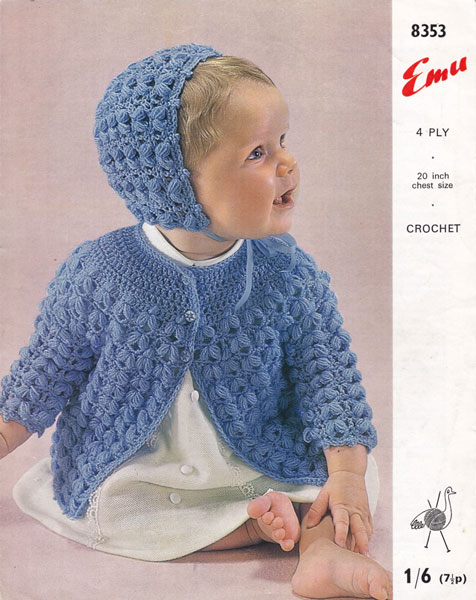 Vintage Babies Crochet patterns available from The Vintage Knitting Lady