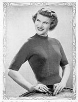 ladies vintage knitting pattern from 1940s for a twinset