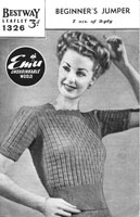 ladies interesting jumpoer knitting pattern from 1940s