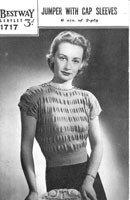 vintage ladies jumper knitting pattern from 1940s