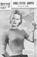 vintage ladies knitting pattern from 1940s