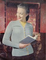 vintage ladies twin set knitting pattern from 1940s