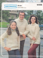vintage keynoteW446 family knitting patterns