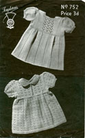 intage baby dress knitting patterns