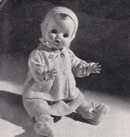 vintage baby doll set