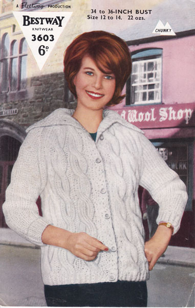 559ca00fc9 Vintage Ladies Jacket knitting patterns available from The Vintage ...