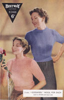 vintage knitting pattern for ladies  summer jumper