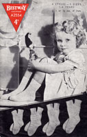 vintage childs sock knitting pattern bestway a2554