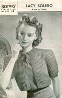 vintage ladies 1940's knitting patterns